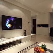 美式客厅简约型电视墙设计