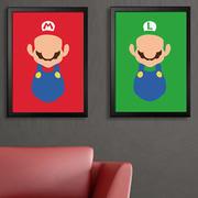 红绿色壁纸对画设计