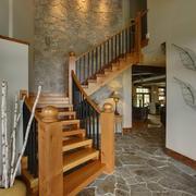 木质厚重性个性楼梯