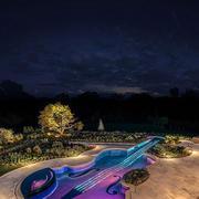 吉他样式的游泳池设计