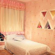简欧粉色系列女生卧室设计