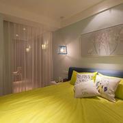 卧室柠檬色元素背景设计