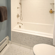 白色简约优雅式浴室设计