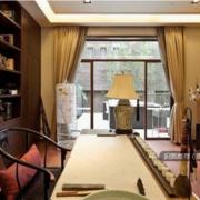 新中式儒雅型书房设计