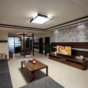 大户型欧式客厅简约桃木设计