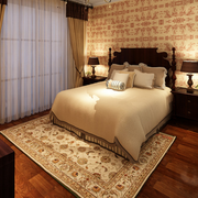 欧式大户型卧室床头背景墙设计