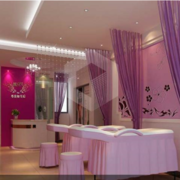 美容院粉色装修效果