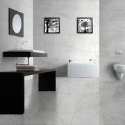黑白色瓷砖浴室装修效果