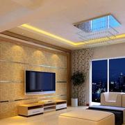 白色大户型客厅电视背景墙简约装修效果图