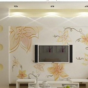 客厅印花式客厅简约电视背景墙设计
