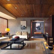 日式实木天花板设计