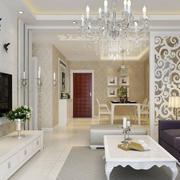 白色典雅型玄关设计