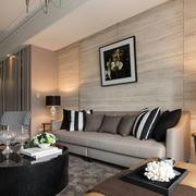 简欧大气优雅型客厅沙发设计
