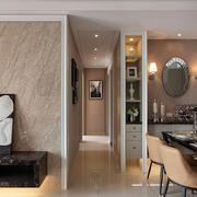 简欧实木型客厅背景墙设计