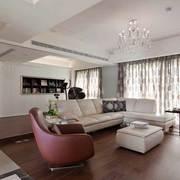 简欧系列客厅红白沙发设计
