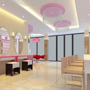 淡粉色美甲店设计