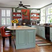 混搭色小厨房现代化设计