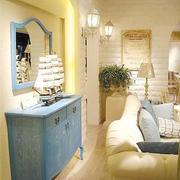 地中海式客厅吧台设计