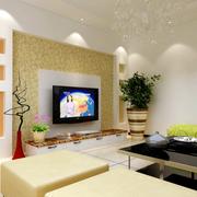 欧式白色简约型电视背景墙装修设计