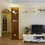 客厅波浪式纹理图案电视背景墙设计
