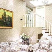 白色硅藻泥客厅背景墙设计
