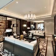 中式客厅大型吊灯设计