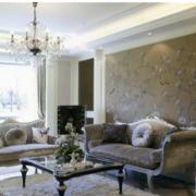 客厅硅藻泥电视背景墙设计