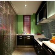 缤纷彩色系列小户型厨房设计