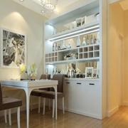 白色典雅型大型酒柜设计