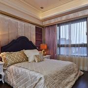 美式卧室窗帘效果
