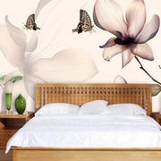 卧室花卉图案背景设计