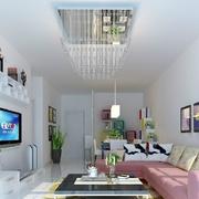 简约风格客厅照片墙设计