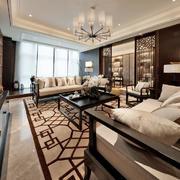中式大型客厅设计
