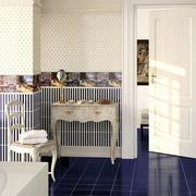 白色简约系列蓝白瓷砖