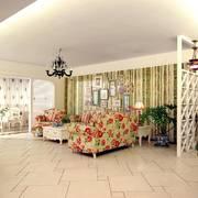 田园风格双人沙发客厅