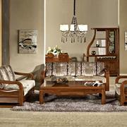 成套型桃木桌椅简约设计