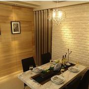 餐厅小长方形餐桌设计