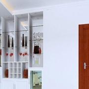 白色架子型酒柜设计