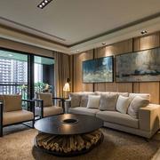 中式简约系类客厅原色沙发