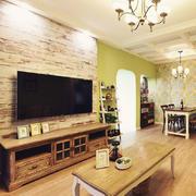 实木型电视背景墙效果图