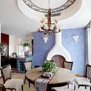 地中海美式客厅吊顶