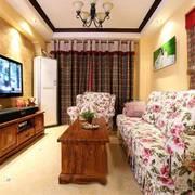 田园风格的大户型典雅客厅设计