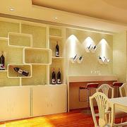 欧式暖色系酒柜设计