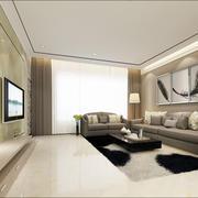 现代简约型客厅沙发设