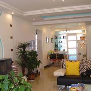 简欧浪漫暖黄色系列客厅设计