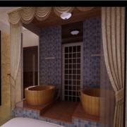 美容院装修紫色窗帘