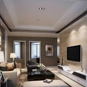 欧式简约型客厅装修设计
