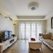 欧式精美白色镂空图案式客厅背景