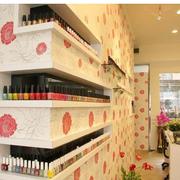 韩式粉色美甲店设计