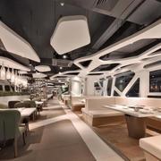 具有创意型的大型火锅店设计效果